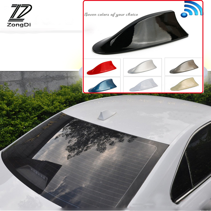 Rear Shark Fin Aerial AM//FM Antenna fits HYUNDAI i20 Grey