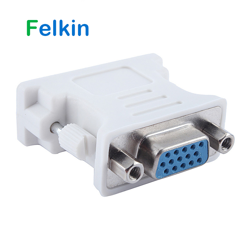Felkin DVI To VGA Adapter Cable Male To Female DVI 24+5 Pin To VGA 1080P Converter Adapter For HDTV Monitor Computer PC Laptop