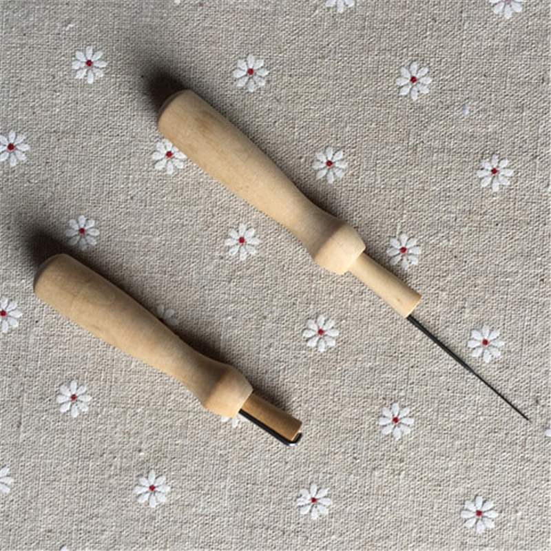 Felting Needle Tool Wooden Handle Sewing Awl Stitcher Leather Craft Canvas Tent Sewing Needle Kit-in Sewing Needles from Home u0026 Garden on Aliexpress.com ... & Felting Needle Tool Wooden Handle Sewing Awl Stitcher Leather ...