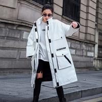 Женская хлопковая стеганая куртка зимняя холодная Защита Одежда 2019 Новое поступление оверсайз длинная куртка женская зимняя женская парка