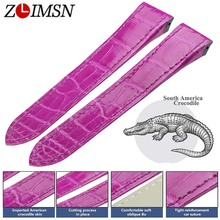 ZLIMSN South America Alligator skin New Watch Band Suitable for Cartier Belt 12-26mm Men Women Genuine Watchband