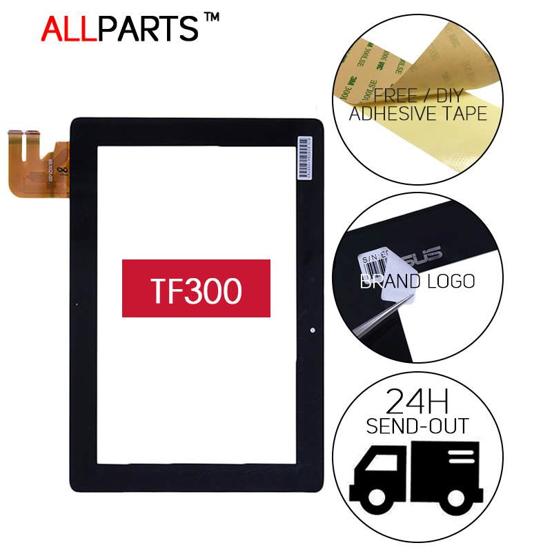 Original 10.1 inch TESTED NEW Touch Screen For Asus EeePad Transformer TF300TG TF300 Touch screen Replacment Parts Free Adhesive