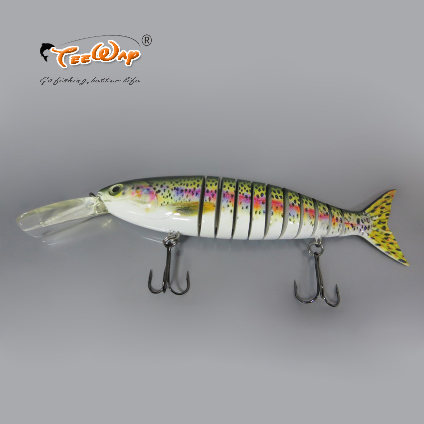 28cm 260g Fishing Lure 11 Segment Pesca Swimbait Pike Muskie Hard Lures Treble Hook Crankbait Fishing Tackle Bait image