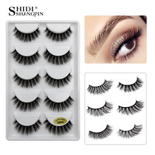 LANJINGLIN 5 pairs 3d mink lashes natural false eyelashes cruelty free makeup fake eyelash extension volume long lasting