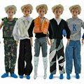 3 Sets Casual Wear Plaid Doll Clothes Long Sleeve Shirt Outfit Clothes for Ken  Dolls