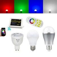 4pcs Mi Light 2 4G Wifi 9W 6W 5W 4W LED Bulb RGBWW RGBW GU10 E27