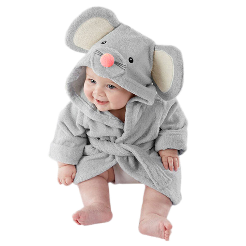 Милый купальный халат для маленьких мальчиков и девочек, мягкие пижамы с рисунками, ночное белье