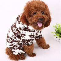 Dog Coat Newest Winter Soft Warm Pet Dog Puppy Winter Clothes Snowflake Deer Printed Hoodies Jumpsuit