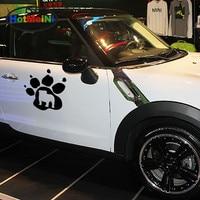 HotMeiNi 2 X Ferociou Bulldog Sevimli Pençe Baskı Evcil Hayvan Lover araba Sticker Pencere Kapı Araba Dekorasyon Kayık Vinil Çıkartması 9 Renk