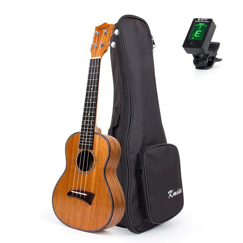 Kmise Concert Ukulele Mahogany Ukelele Uke 4 String Hawaii Guitar 23 inch 18 Frets with Gig Bag Tuner ukulele 23 inch four string small guitar hawaii travel little guitar mahogany child guitar
