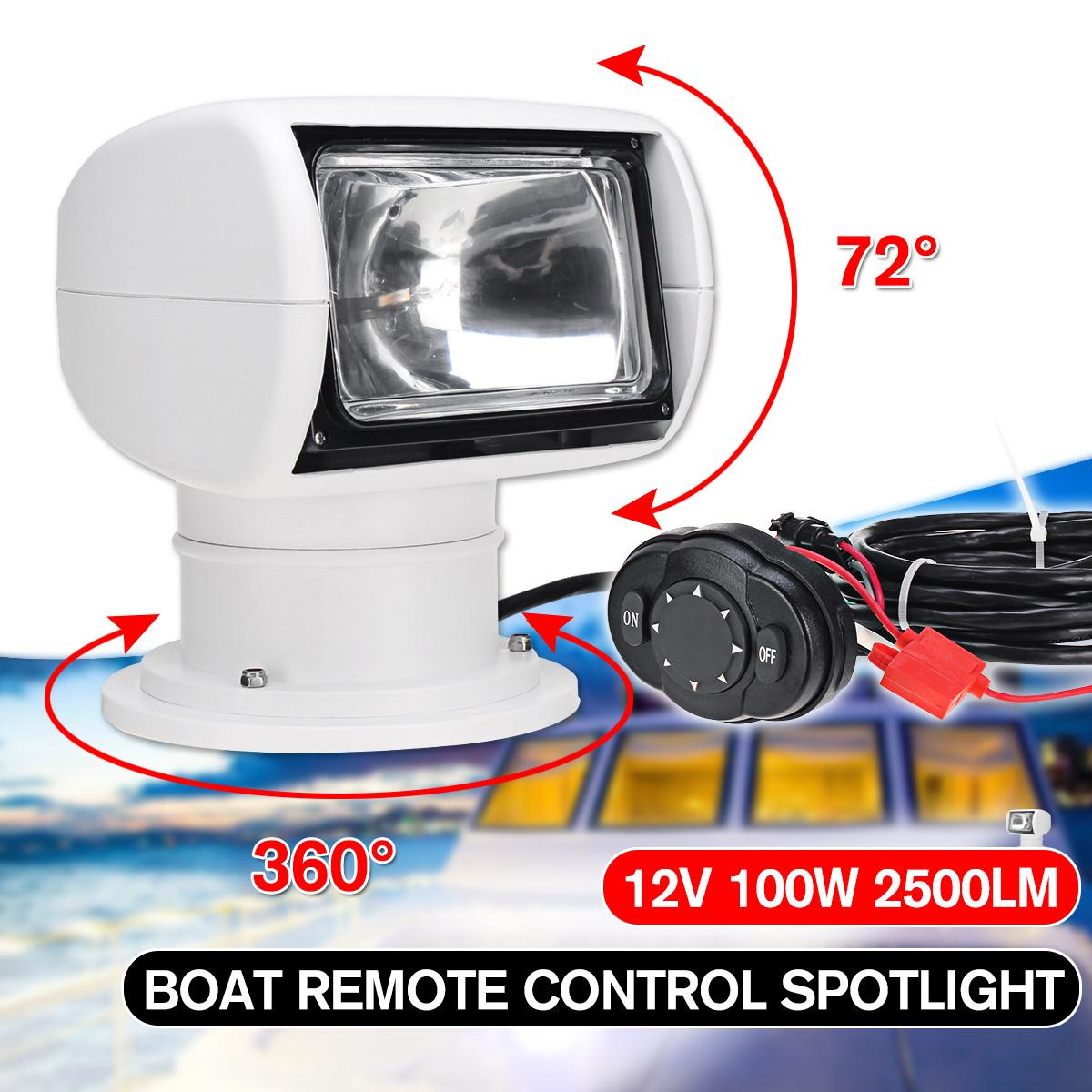 360 Degree 100W Remote Control Search Marine Searchlight Spot Headlight Searching Light For Yacht TRUCK Fishing Boats