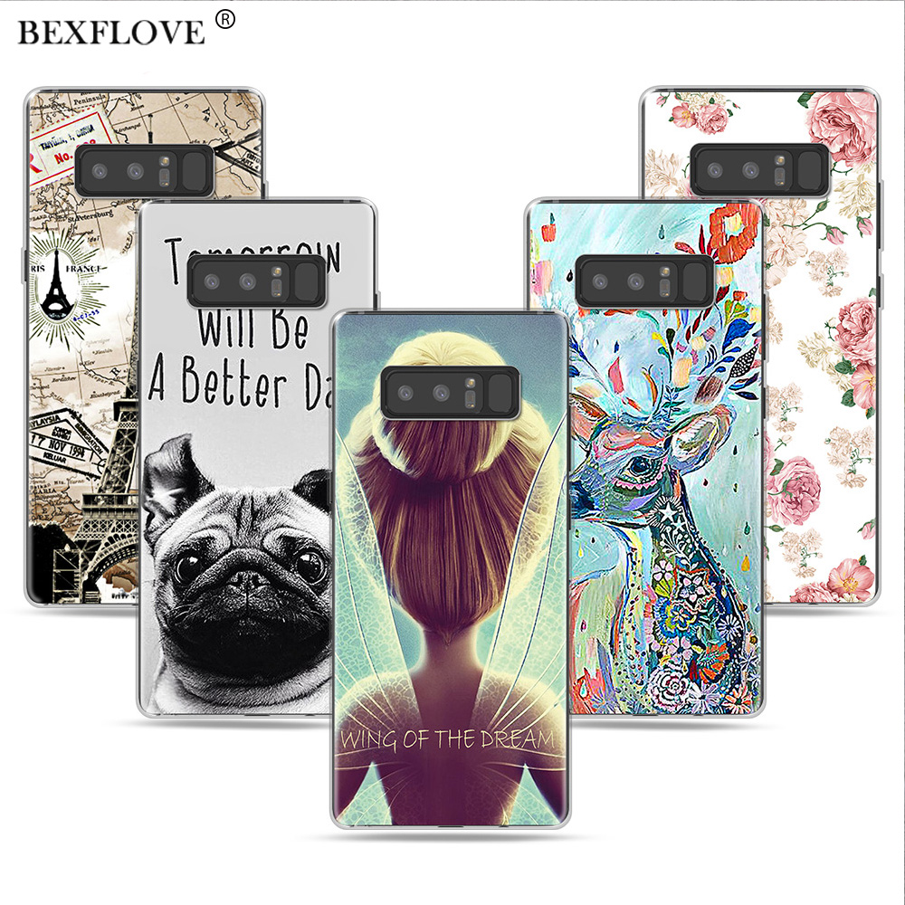 Flower Case For Samsung Note 8 Case For Samsung Galaxy Note 9 Case Cover Silicone DIY Cover For Samsung Note 9 Note9 Note 8 Case