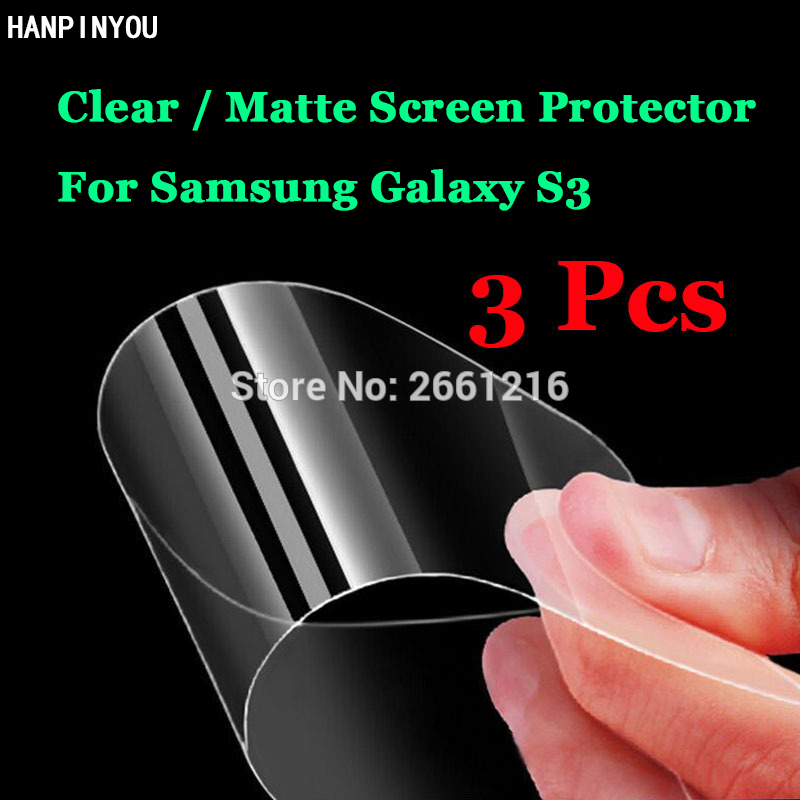 3 Pcs/Lot For Samsung Galaxy S3 SIII S 3 III i9300 HD Clear/Anti-Glare Matte Front Screen Protector Touch Film Protection Skin
