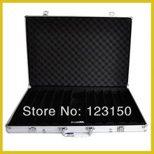 AC-009 High Quality Poker Chip Aluminum Case for holding 1000pcs chips, Silver