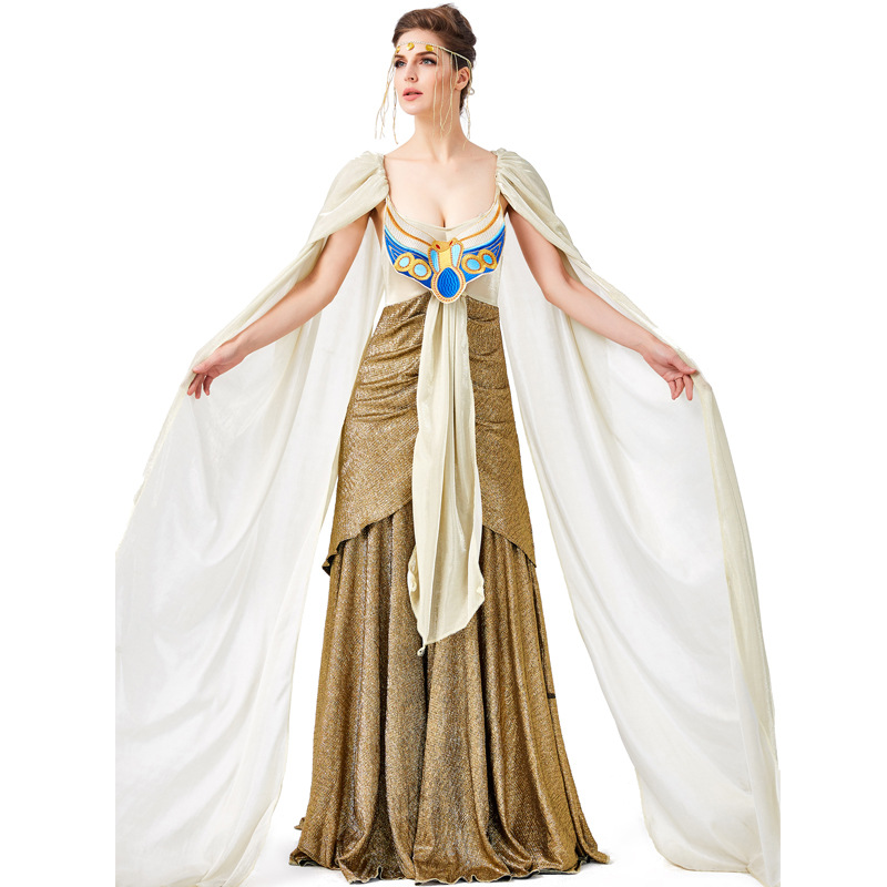 Woman Cleopatra Cosplay Costume Renaissance Ancient Egypt Mythology Greek Goddess Princess Queen Dress Costumes Party Aliexpress