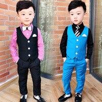 2008 Autumn Dress New Korean Flower Children's Presiding Dress Two Suits of Boy's Suit and Horse Armor Suit Boy