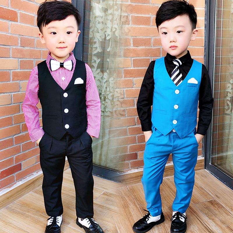 2008 Herbst Kleid Neue Koreanische Blume Kinder Vorsitz Kleid Zwei Anzüge Von Jungen Anzug Und Pferd Rüstung Anzug Junge Und Verdauung Hilft