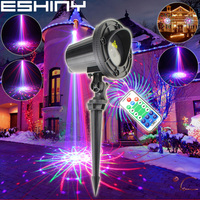 ESHINY Outdoor WF RGB Laser 36 Patterns Projector Holiday House Family Party Xmas Tree DJ Bar Wall Landscape Garden Light N6T85