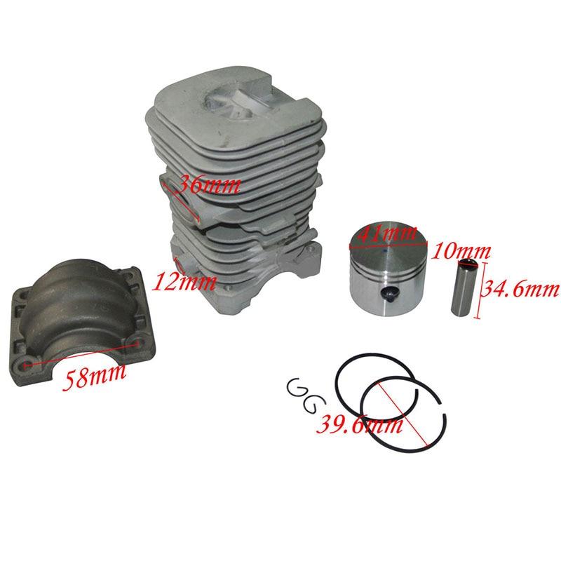 41mm Cylinder Piston Rings Kit For Poulan/Partner 220 221 260 351 370 390 420 цена