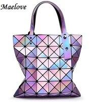 Discounts! Women-bag handbag Geometry totes Hologram bag female bag hologram laser silver bag Free Shipping