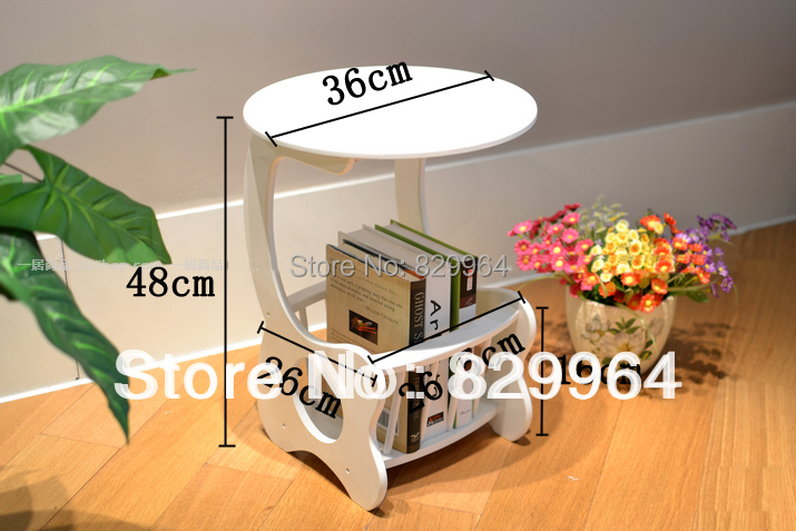White Exquisite Fashion Small Tea Table,magazine Rack, Bookshelf,solid Wood  Furniture,solid Wood Table,small Table,Coffee Tables In Bookcases From  Furniture ...