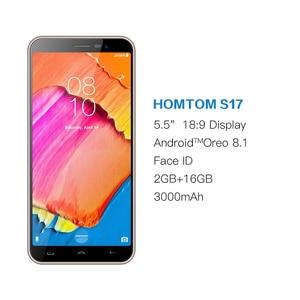 Image 2 - Global Version HOMTOM S17 Android 8.1 Smartphone Quad Core 5.5inch Fingerprint Face Unlock 2G RAM 16G ROM 13MP+8MP Mobile Phone