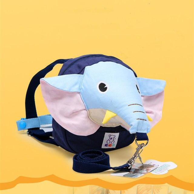 Baby Boy Girl Toddler Lovely Cartoon Elephant Harness Backpack Infant Child Outdoor Anti-lost Walking Safety Belt Mochila