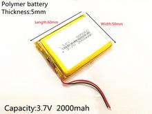 Free Shipping 3.7 V lithium polymer battery GPS navigation 505060 2000mah VX580LE VX580R