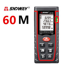 Laser distance meter 7 Key 60M better than 6 key SW-M60 infrared rangefinder Electronic ruler area/volume/Pythagorean tool infrared reversing distance indicator electronic contest package electronic skills assessment distribution test