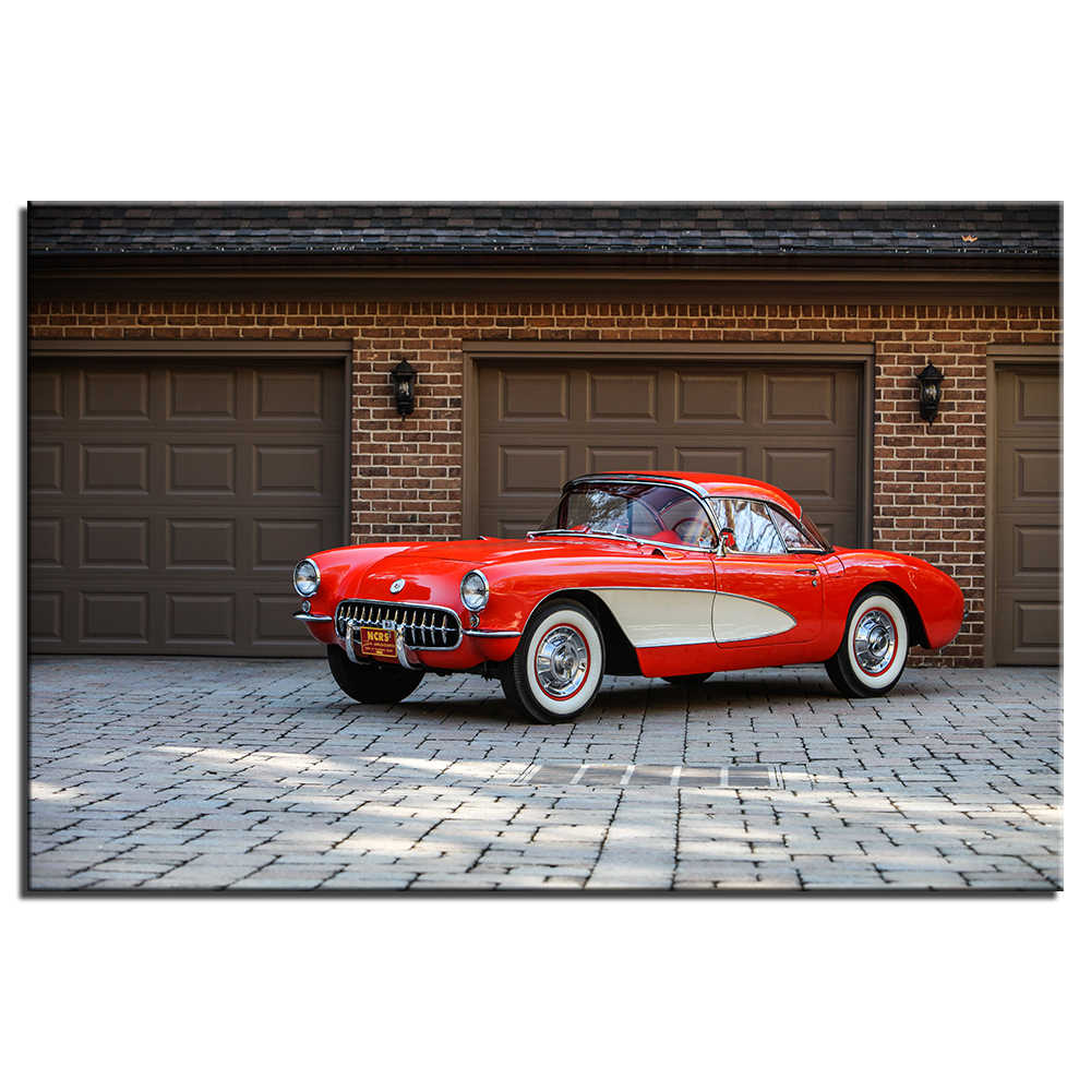 Stupendous Wall Art Decoration 1956 Chevrolet Corvette Poster Canvas Prints Diy Framed Vehicle Painting For Living Room Decor A49 Download Free Architecture Designs Scobabritishbridgeorg