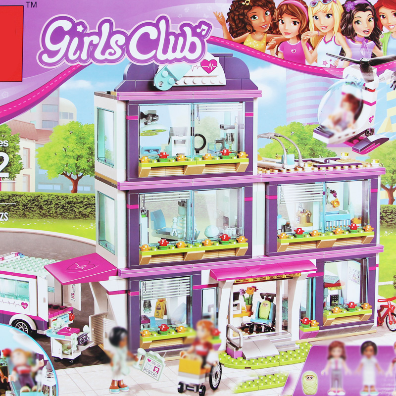 Building bricks Girls Club 932Pcs 01039 Heartlake Love Hospital kids Bricks Toy for Girl ...