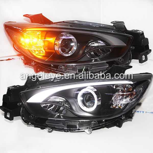 2012 2014 year for Mazda CX 5 LED Strip Headlight with HID Xenon Bulbs LF