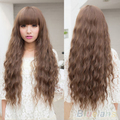 New Fashion Womens Lady Long Curly Wavy Hair Full Wigs Cosplay Party Brown