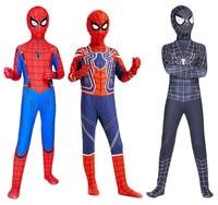 Kids adult The Amazing Spider man cosplay SpiderMan Zentai Lycra Suit Bodysuit Fancy Dress Halloween Jumpsuits Party costumes
