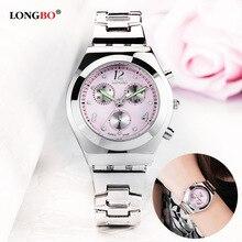 Фирма LONGBO, роскошные женские часы, кварцевые наручные часы для девушек, модные кварцевые часы, relogio feminino reloj mujer, 2016