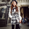 Dabuwawa winter woolen plaid jumpsuit