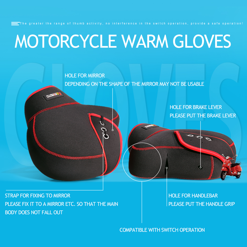 Image 5 - KEMiMOTO Motorcycle Gloves handlebar gloves Scooter Hand Bar Winter Gloves ATV Fur Mitts Motorbike Quad Bike Waterproof-in Gloves from Automobiles & Motorcycles