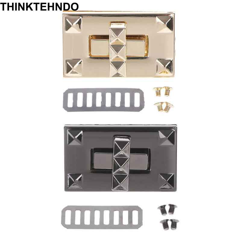 Metal Lock Twist Clasp Turn Locks For DIY Handbag Shoulder Craft Bag Purse Hardware