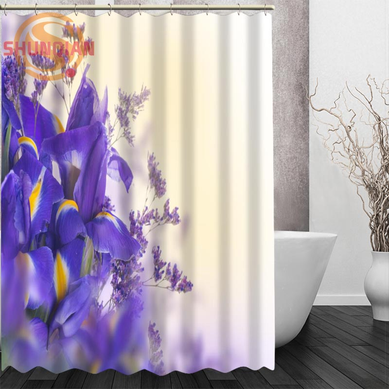 iris flowers Shower Curtain Eco friendly Modern Fabric polyester ...