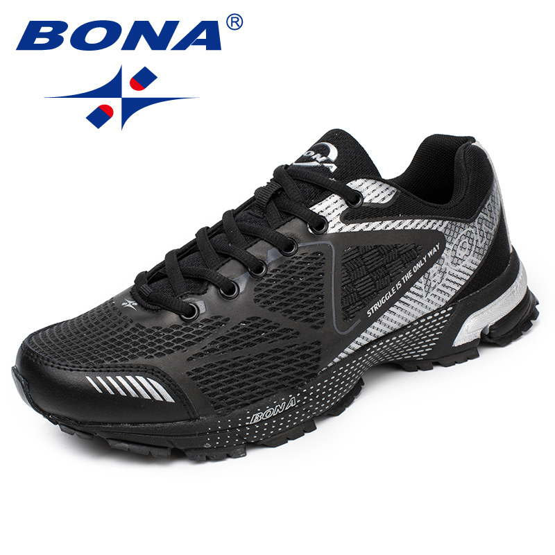 BONA New Arrival Classics Style Men Running Shoes Mesh Men Athletic Shoes Outdoor Jogging Shoes Lace Up Men Sneakers bona new classics style men running shoes mesh men athletic shoes lace up men outdoor sneakers shoes light soft free shipping