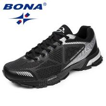 лучшая цена BONA New Arrival Classics Style Men Running Shoes Mesh Men Athletic Shoes Outdoor Jogging Shoes Lace Up Men Sneakers