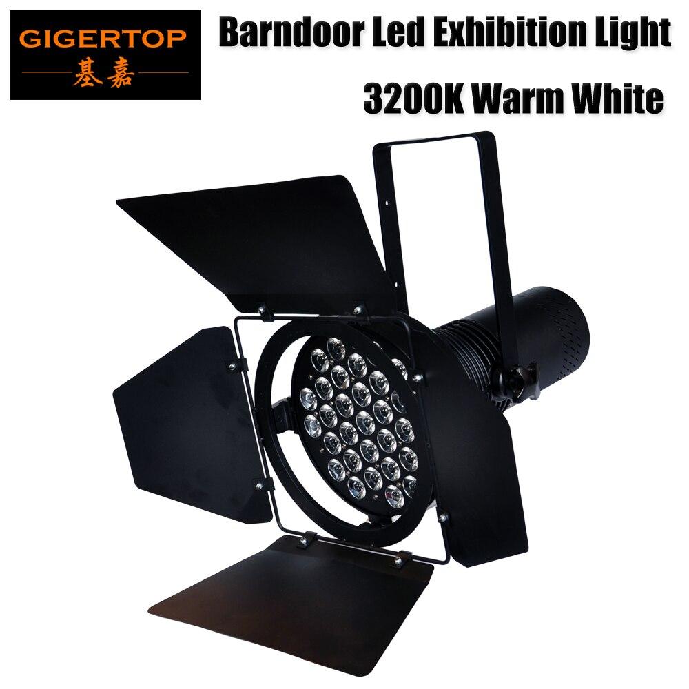 Gigertop TP P60 3200 К горячий белый светодио дный автомобиля свет для выставок автомобильной выставке высокое Мощность светодио дный Par Банок импор