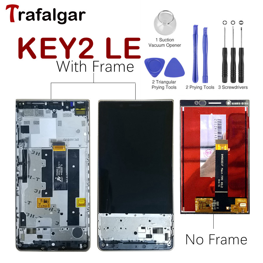 Original LCD For BlackBerry Key2 LE Display Touch Screen Digitizer With Frame For BlackBerry Key2 LE