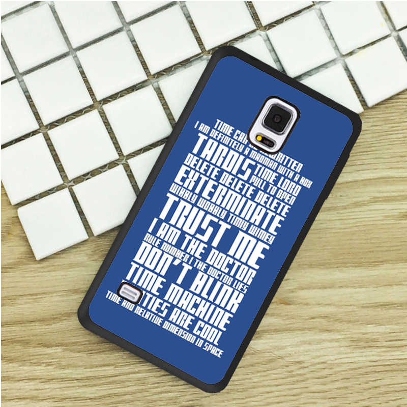 Dr Who Tardis Cult TV Series Doctor Quotes Phone Cases For Samsung Galaxy  S3 S4 S5 mini S6 S7 Edge S8 plus Note 2 3 4 5 Cover