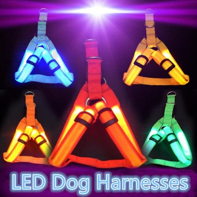 Collare di Nylon Dell'animale Domestico di Sicurezza LED Cablaggio del Cane Del