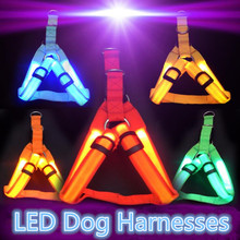 Led Flashing Light Dog Harness