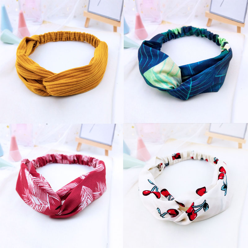 New Women Spring Suede Soft Solid Headbands Vintage Cross Knot Elastic Hairbands Bandanas Girls Hair Bands Hair Accessories W068