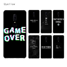 Uyellow Black Text Custom Silicone Phone Case For One Plus 7 Pro 6 6T 5 5T Shell Luxury Soft Fashion Fundas Printed Cover Coque
