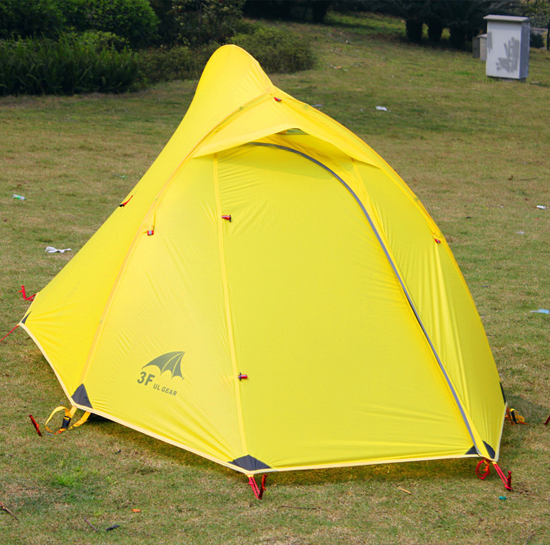 3F Gear 2 person double layer aluminum poles ultralight camping silicon coating beach camping tent