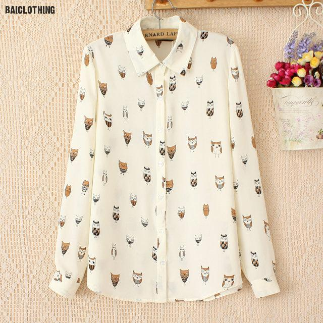 c4804e0ada35 Newest Plus Size Shirt Women Animal Cotton Blouse Fashion Long Sleeve  Ladies Tops Floral Print Paisley Women Blouses Casual #3-in Blouses & Shirts  from ...